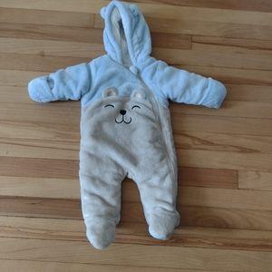 Wonder Nation Bear Snow Suitm 3-6 months